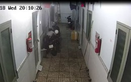 Nhóm thanh niên mặc áo Grabbike đột nhập dãy nhà trọ trộm xe Exciter