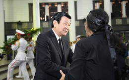 Nguyên Chủ tịch nước Trương Tấn Sang viếng GS Phan Huy Lê: Một tài năng lớn trong giới sử học nước nhà đã ra đi