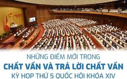 Infographic: Những điểm mới trong chất vấn và trả lời chất vấn Quốc hội khóa 14