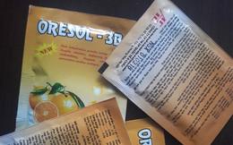 """""""Thuốc"""" Oresol ghi sai liều lượng pha chế trên bao bì: Vẫn bán tràn lan"""