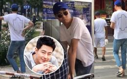 """Tài tử Jo In Sung dạo phố Việt Nam: Đi dép lào, dáng đứng bến tre nhưng vẫn khiến fan """"vỡ tim"""" vì ngoại hình"""
