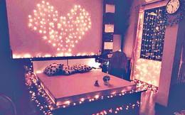 """Chăng đèn nháy kín giường ngủ làm quà sinh nhật chồng, vợ trẻ hỏi có rò điện không, dân tình chỉ quan tâm """"anh chị làm gì trên đó"""""""