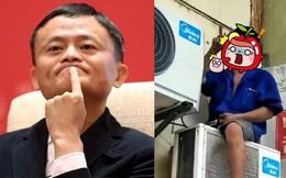 Bắt gặp bản sao tỷ phú Jack Ma hành nghề sửa điều hòa tại Trung Quốc