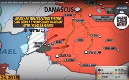 """""""Hổ Syria"""" xung trận tiêu diệt IS, Israel bắn hạ máy bay chiến đấu Syria"""