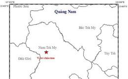 Động đất 3,5 độ richter ở khu vực huyện Nam Trà My