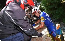 Tay đua người Bỉ rơi xuống vực phải chia tay Tour de France 2018