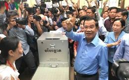 Thủ tướng Hun Sen đi bỏ phiếu bầu cử Quốc hội Campuchia