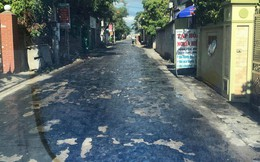 Đường nhựa tan chảy vì nắng nóng ở Hưng Yên