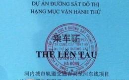Tổng thầu tự ý in thẻ lên tàu đường sắt trên cao có chữ Trung Quốc