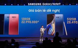 Samsung Galaxy Note9 gây bất ngờ tại Việt Nam với giá tốt hơn dự kiến gần 2 triệu cùng nhiều ưu đãi khủng