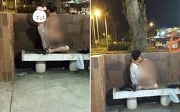 """MXH lại dậy sóng vì một cặp đôi """"mây mưa"""" ở ghế đá giữa đường, còn chỉ tay thách thức người chụp ảnh vì tội """"làm phiền"""""""