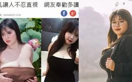 Cô gái Hải Dương sở hữu vòng một khủng bỗng xuất hiện trên báo Đài Loan