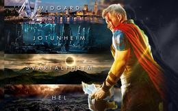 Không giống như trong phim về Thor đâu, đây mới là Cửu giới chuẩn trong thần thoại Bắc Âu
