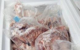 Thịt heo hết hạn sử dụng được bày bán trong siêu thị Meat Farm ở TP.HCM