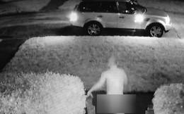 Hy hữu: Phát hiện bị trộm xe, người đàn ông khỏa thân phóng ra ngăn chặn