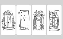 Chọn một cánh cửa bạn muốn đi vào nhất để khám phá con người thật đằng sau lớp vỏ bọc của mình