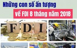 Infographics: Những con số ấn tượng về FDI 8 tháng năm 2018