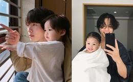 Nam thần Hàn Quốc từng đóng MV của Min: Ông bố cực cưng chiều và dịu dàng khi ở cạnh cô con gái nhỏ