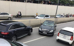 CSGT sẽ yêu cầu chủ xe Mercedes biển ngũ quý chạy ngược chiều trong hầm ở Hà Nội đến làm việc