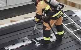 Đến lính cứu hỏa cũng phải ngả mũ vì độ bền mái ngói năng lượng mặt trời của Tesla