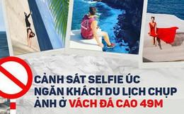 """Úc: Thành lập nguyên cả một đội """"Cảnh sát selfie"""" để ngăn chặn người dân liều lĩnh chụp ảnh ở vách đá cao 49m"""