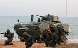 """Cận cảnh Thái Lan đưa xe thiết giáp tự chế tạo đi """"học bơi"""""""