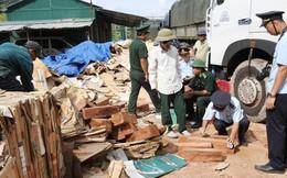 Hàng ngàn thanh gỗ quý hiếm cất giấu tinh vi trong các kiện giấy phế liệu