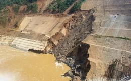Vết sạt trượt có ảnh hưởng đến an toàn đập thủy điện Trung Sơn?