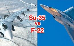 """F-22 đối đầu Su-35: Phi công Mỹ thốt lên """"thà quay đầu bỏ chạy còn hơn""""!"""