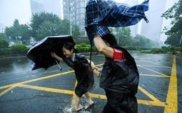 Siêu bão Mangkhut vừa đổ bộ vào tỉnh Quảng Đông, Trung Quốc với sức gió hơn 160 km/h