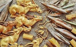 Đào 200 gò đất phát hiện kho báu có tới 3000 vật phẩm bằng vàng