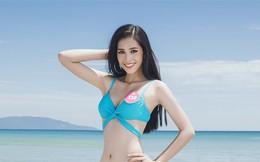 Cận cảnh vẻ nóng bỏng của top 3 Hoa hậu Việt Nam 2018 với bikini