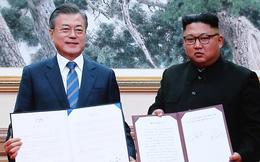 Kết thúc hội nghị thượng đỉnh liên Triều, hai nhà lãnh đạo ký tuyên bố chung