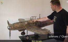 Dành 7 năm trời để lắp mô hình máy bay từ 42 kg ốc vít và thanh kim loại – chắc hẳn đây là người đam mê mô hình nhất thế giới