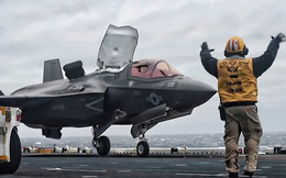 Cận cảnh siêu tiêm kích F-35B Lightning II hạ cánh thẳng đứng ở Okinawa