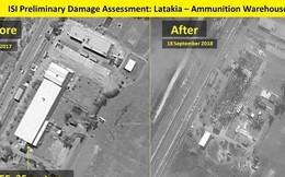 Israel công bố ảnh san phẳng kho vũ khí Syria