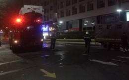 Cháy tại tầng 9 tòa nhà Waseco, nhiều người tháo chạy trong đêm