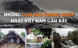 [Infographics] Những cơn bão khủng khiếp nhất Việt Nam gần đây