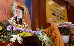 Tăng ni, phật tử TP HCM cầu nguyện, tưởng niệm Chủ tịch nước Trần Đại Quang