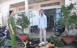 Mang 11 xác chó không nguồn gốc đi bán lúc rạng sáng