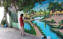 """Xuất hiện tác phẩm """"graffiti phiên bản đồng quê"""" tuyệt đẹp giữa Sài Gòn"""
