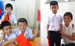 Nụ cười rạng rỡ của cậu bé bị trao nhầm tại Bệnh viện Ba Vì trong ngày khai giảng