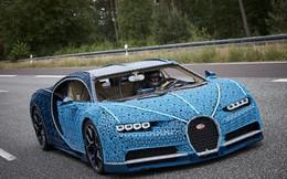 'Điên rồ' siêu xe Bugatti làm từ 1 triệu mảnh Lego, chạy bon bon trên đường