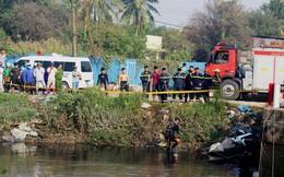 Nhiều giờ tìm kiếm người nghi bỏ xe máy nhảy sông