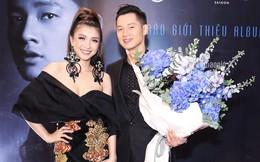Tiêu Châu Như Quỳnh diện váy xẻ cao đến chúc mừng Đức Tuấn