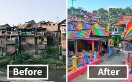 """Từ một khu """"ổ chuột"""", ngôi làng này đã lột xác thành vùng đất rực rỡ sắc màu cầu vồng, thu hút hàng nghìn khách du lịch tham quan"""