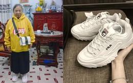 Mặc áo hoodie vàng, mang giày FILA, bà nội 87 tuổi bỏ xa lớp trẻ vì độ sành điệu