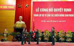 Bộ Quốc phòng công bố thành lập Bộ tư lệnh Tác chiến không gian mạng