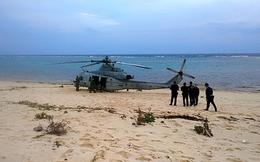 Trực thăng quân sự Mỹ hạ cánh 'ẩu' trong khách sạn Nhật