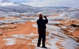 Lý giải hiện tượng tuyết rơi trắng xóa tại... sa mạc Sahara
